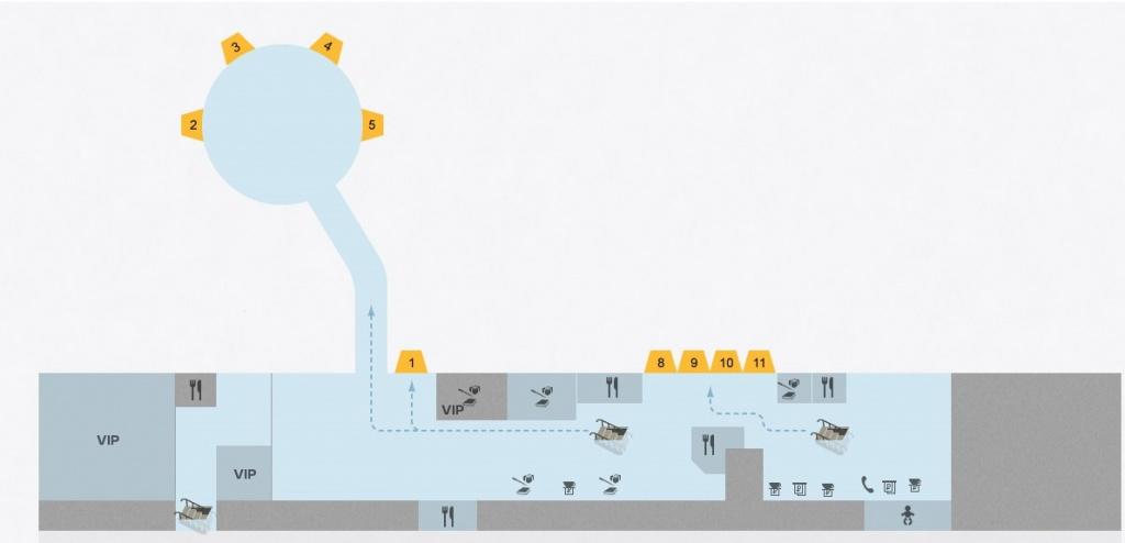 Схемы Терминала E / 1 этаж / 2